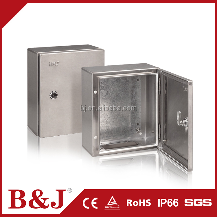 B&J China Suppliers Different Sizes Stainless Steel Electrical Panel Box Safe Types