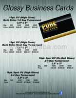 High Gloss UV Business Cards