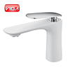 Elegant style basin faucet white chrome automotive paint technology bathroom tap