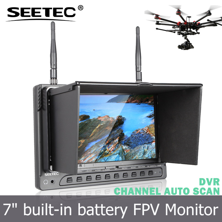 AV wireless fpv receiver 7 inch lcd monitor dji phantom gimbal drone with professional camera