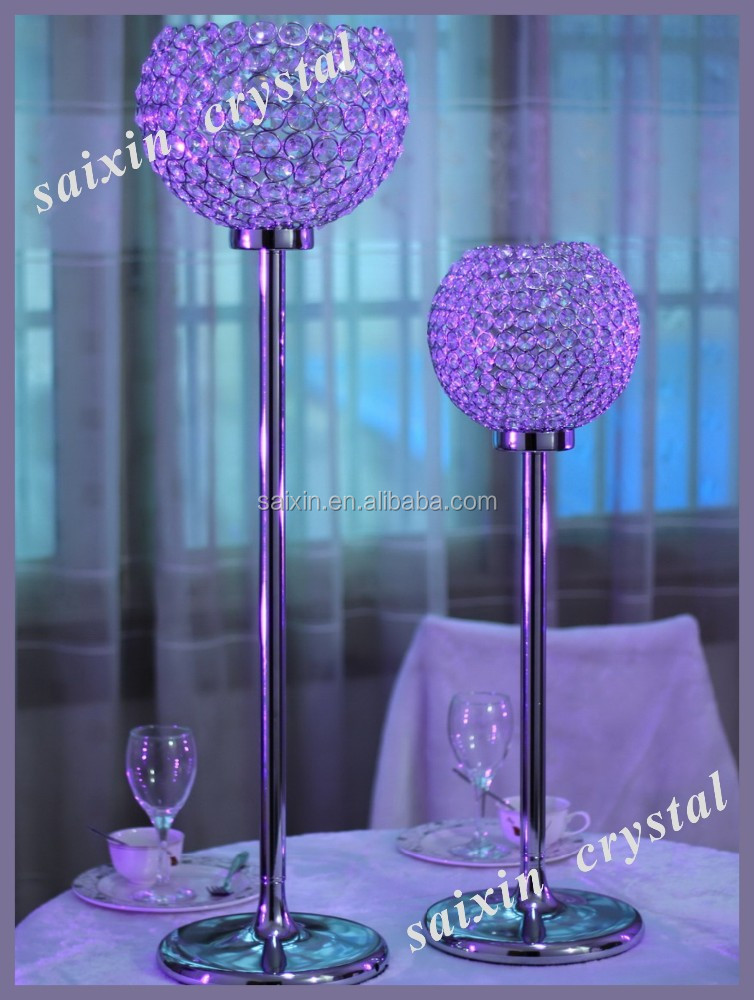 Crystal Globe Candles Holder Spherical For Wedding Centerpieces Candle Centerpiece Tall