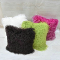 wholesale Mongolian sheep/ lamb cushion latest design cushion cover custom sofa cushion for office chair