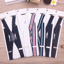 British Style Adult Men's and Women's Elastic Strap Trousers Braces Clip Belts Cheap Elastic Custom Printing Suspenders