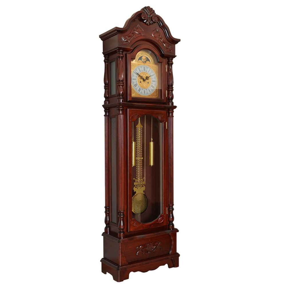 Modern Islam Wooden Floor Clock for Home Decor with Factory Price