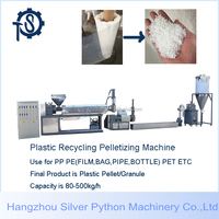 PP PE 300-2000kg/hour of waste plastic recycling plant /flakes plastic waste recycling
