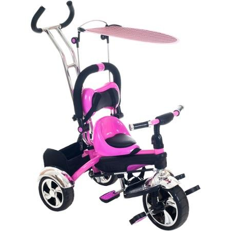 Lil' Rider 2-in-1 Stroller Tricycle Child-Safe Trike Trainer Teach them to Ride the Safe Way