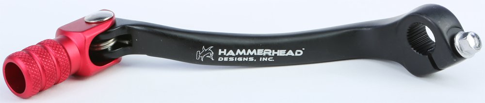 02-08 HONDA CRF450R: Hammerhead Forged Tip Shift Lever - Black/Red