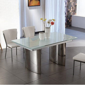 Modern Dinning Room Luxury 6 Seater Glass German Style Dining Table