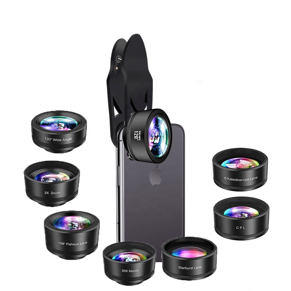 Amazon best sellers smart cell phone lens good quality low price 7 in 1 mobile phone lens kit