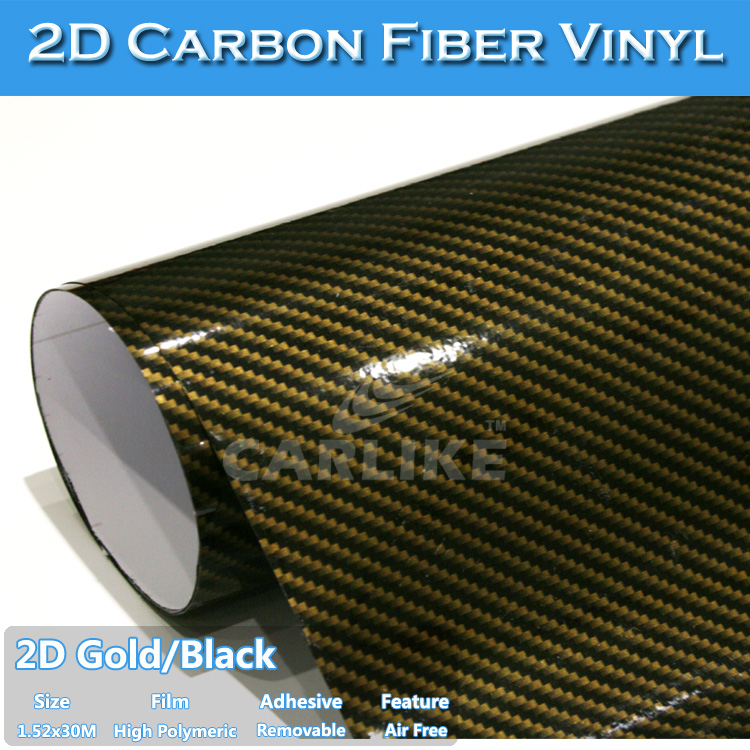 1.53x30m 2D Carbon Fibre Sheet Trailer Wraps/ Vinyl Wrapping Car