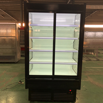 commercial restaurant kitchen equipment transparent glass door refrigerator