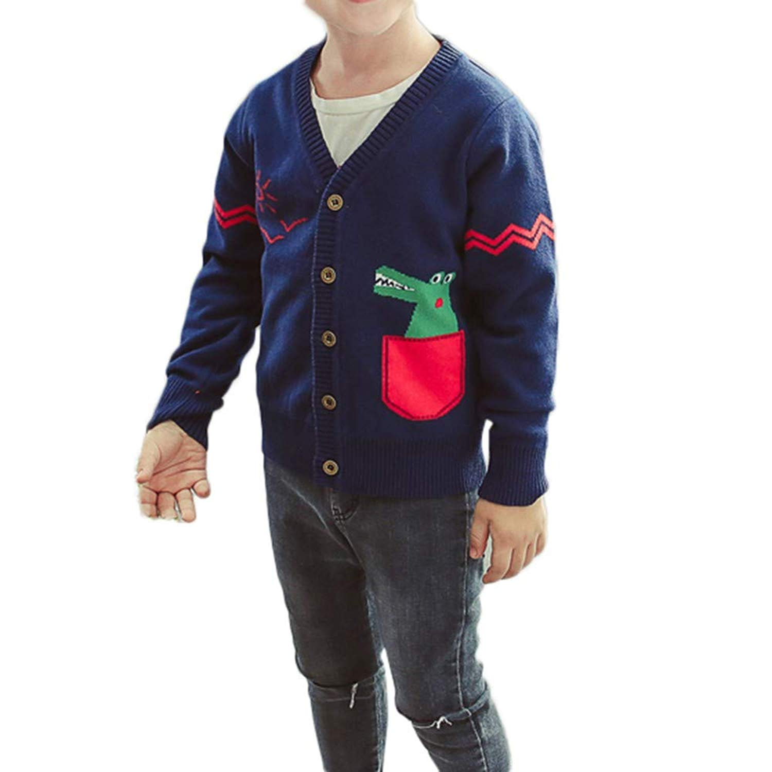 74ee31175e55 Get Quotations · Moonper Toddler Infant Kids Baby Boys Girls Dinosaur  Sweaters Soft Warm Children's Cardigan Coats Clothes