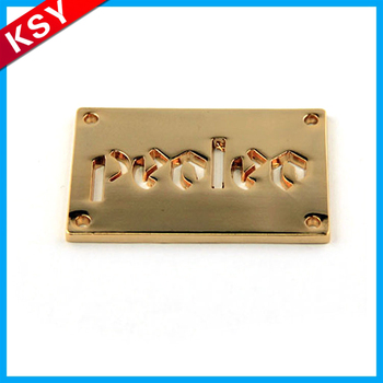 High Quality Engraving Metal Label Brass Logo Plate Handbag Engravable Tag