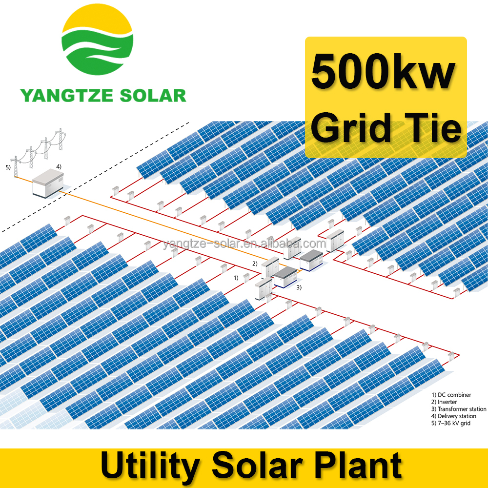 Big Power Capacity 500kw Solar Panel System Price - Buy Solar System ...