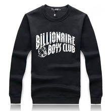 fashion brand print BILLIONAIRE BOYS Loose fleece sports man hoodies hip hop black sweatshirt sportswear 2015 autum spring ding