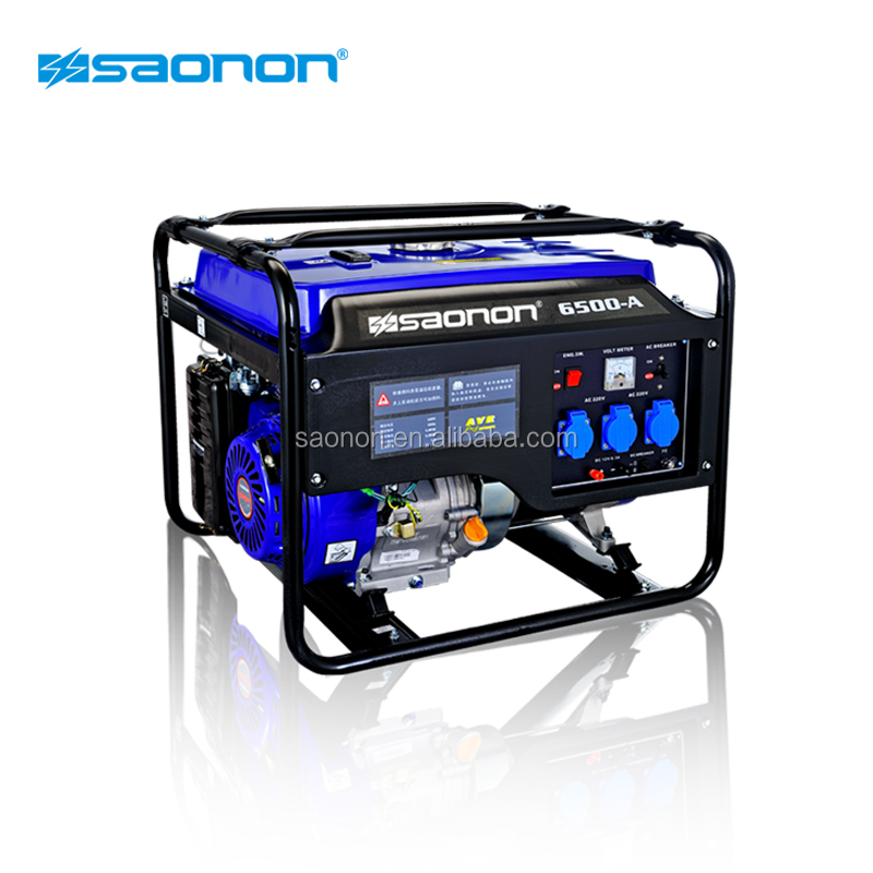 CE ISO approved home use silent 5kVA gasoline generator for commercial used