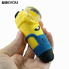 Beyou Mini Funny Minions Silicone Tobacco Pipes Water Pipes Glass Pipes Smoking Weed With Small Glass Bowl