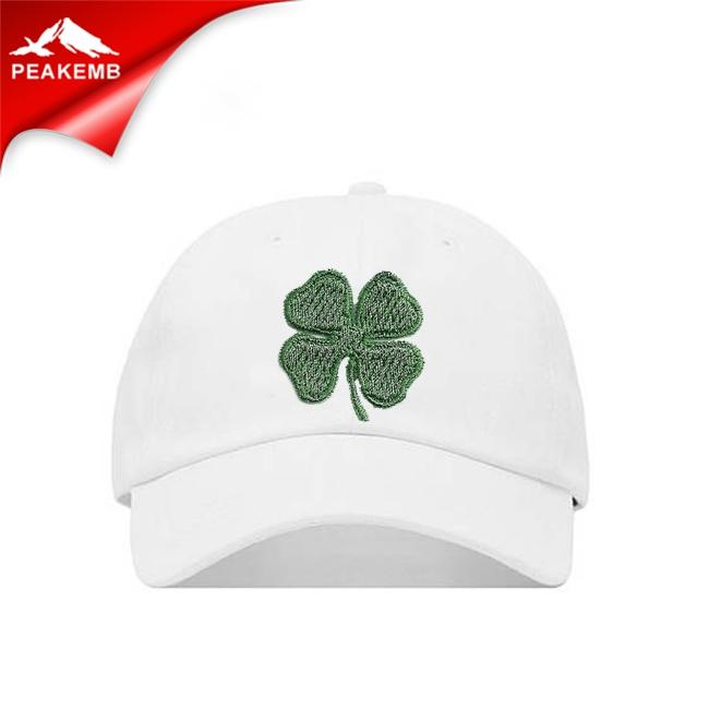 IRISH SHAMROCK Embroidered Iron-On GOOD LUCK SOUVENIR LUCKY GREEN CLOVER PATCH