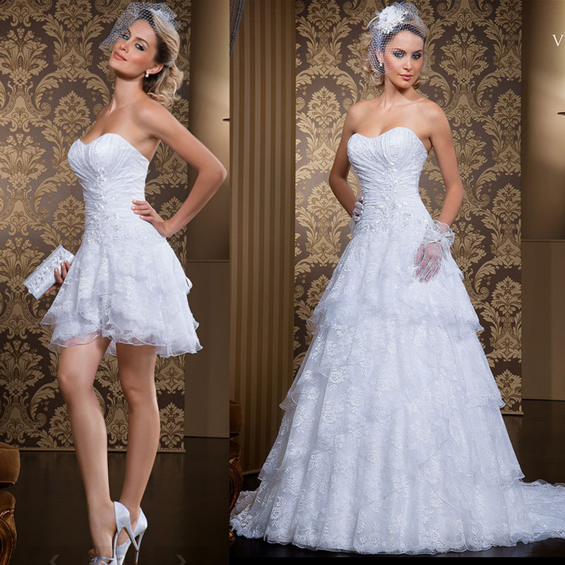 2014 New White Ivory Sweetheart Sleeveless A Line Two