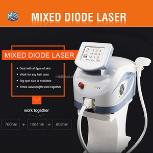 New Technology 755nm 808 nm 1064nm 3in 1 laser diode portable Permanent Hair Removal Machine / mixed diode laser