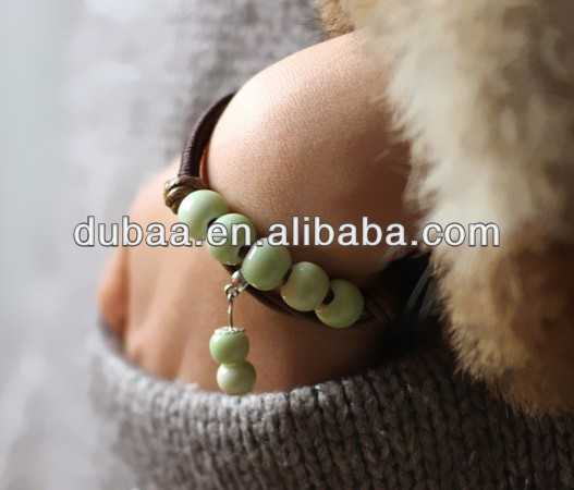 Fashion Handmade Charms Porcelain Beaded Bracelets,Women Ceramic Hand Catenary Accessory,Factory Wholesale Handmade Bracelets