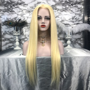 Hot Selling Blonde Human Hair Lace Wigs 130% Density Straight Lace Front Wigs