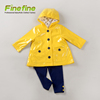 Hot Selling Spring Fall Baby Wear Girl PU Jacket, Legging And Tshirt Set