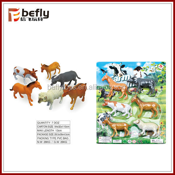 New plastic animal toy farm with EN71 and 7P