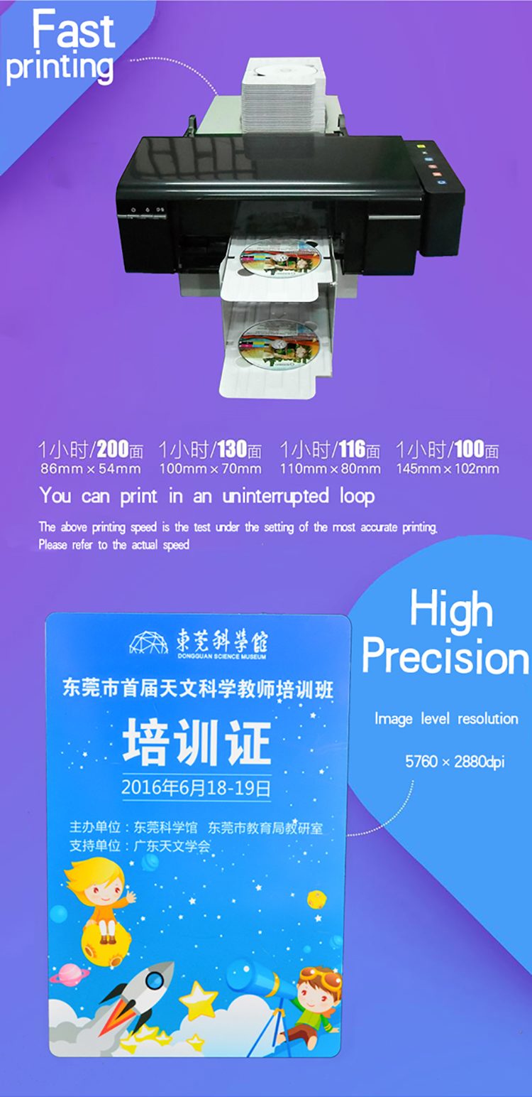Factory Price L800 / T50 Plastic ID Card Printer