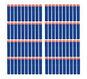 50 Pcs Blue Foam Darts for Nerf N-strike Elite Series Blasters Toy Gun Refill Pack