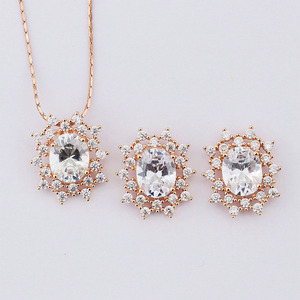 bijuterias atacado wholesale jewelry big diamonds necklace set