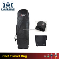 PLAYEAGLE Golf Travel Cover Bag Waterproof Case Nylon Shockproof Thickening Pad Golf Travel Cover Case with Wheels for Airplane