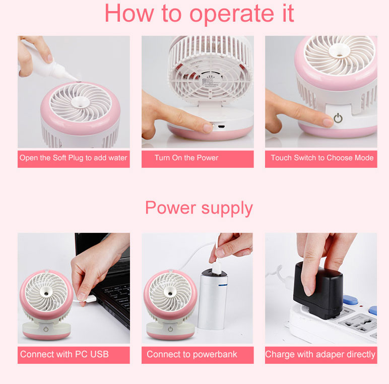 Best gift and price portable mini fan rechargeable 5v dc battery powered fan cap