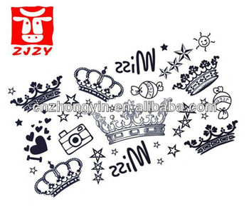 Hot Sale Fashion Crown Designs Temporary Tattoo Sticker Buy