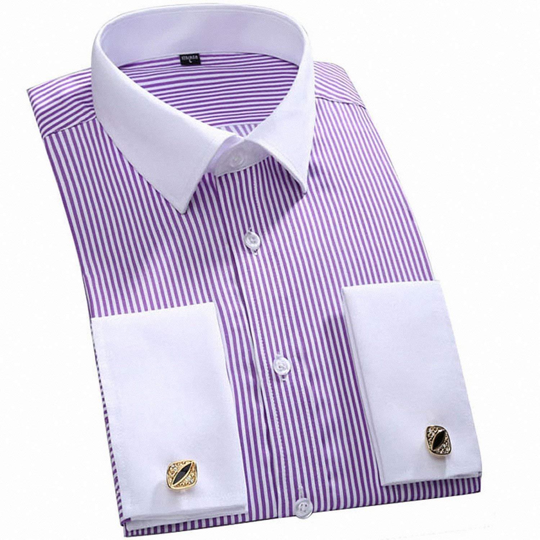 Buy Drawingo Mens Dress Shirts Long Sleeve Shirt Slim Striped Casual