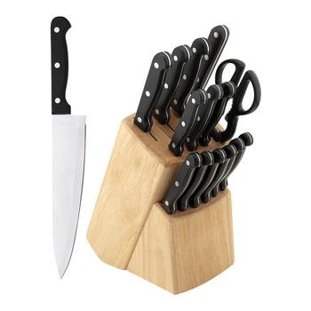 Awe Inspiring 15Pcs German Stainless Steel Professional Kitchen Knife Set W Wood Block Buy Stainless Steel Knife Wood Block Professional Kitchen Knife Set Product Home Interior And Landscaping Ologienasavecom