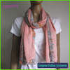 High fashion floral paisley print polyester scarf pink