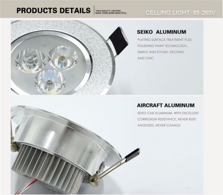 Recessed Led Hidden Kitchen Ceiling Lighting 5w