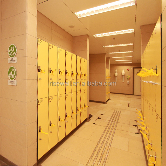 Debo phenolic resin compact laminate locker with numbering tag used gym locker for sale