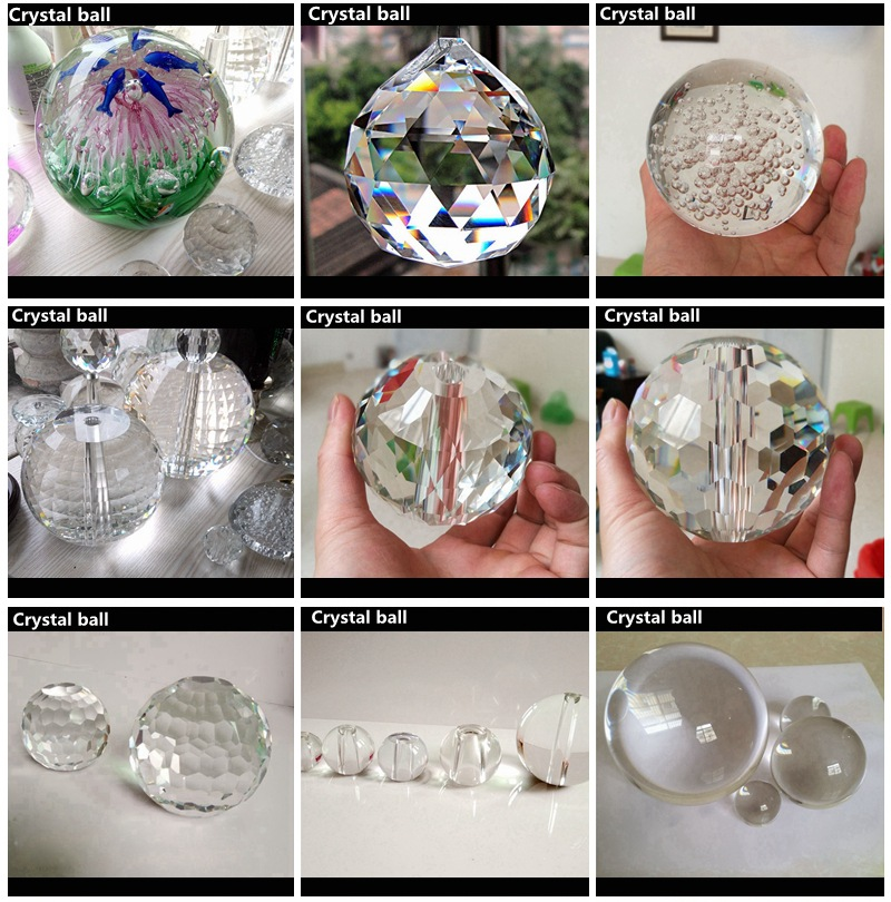 wholesale 60mm 80mm 100mm 200mm 300mm400mmbig personalized magic Photography  color k9 crystal ball