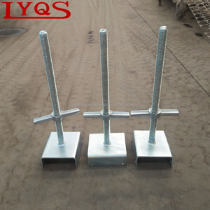 U Head Base Jack Hollow and Solid Scaffolding Steel Screw Base Jack for Construction