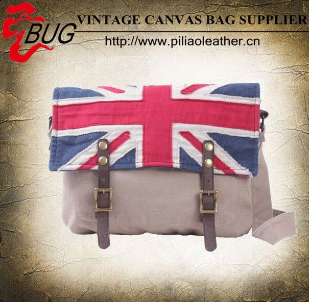 3D Union Jack British Flag Casual canvas Shoulder Bag for men and women wolesale