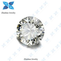 Cheapest Top Clarity D E F Clear White Round Synthetic Diamond 0.1 carat 3 mm Moissanite Stone for Jewelry ring