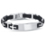 2017 Trend Bracelet Jewellery Merry Christmas Stainless Steel ID Silicone Cross Bracelets For Men