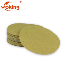 High Performance 125mm Sanding Disc For Car Polishingers Yellow Color Sanding Discs