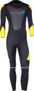 Men' Long Sleeve Yellow and Black Neoprene Surfing and Full Body Wetsuit