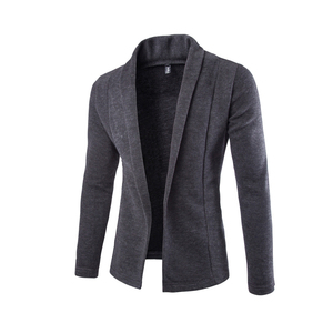 The new foreign trade simple cardigan sweater coat Slim Men's V-neck sweater