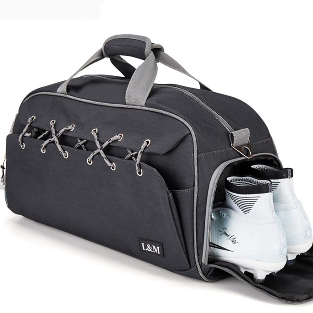 Get Quotations · Sports Gym Bag with Shoe Compartment Travel Duffel Bag for Women  Men with Wet Pouch 1b22e9299a4f3
