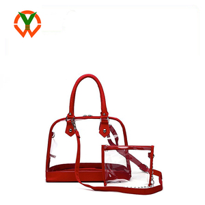 New Design Lady Clear PVC Transparent Cosmetic Crossbody Handbag