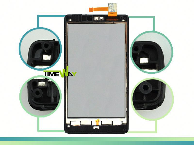 "China factory and newest 4.3"" 800*480 pixels nok lumia 820 lcd with touchscreen"